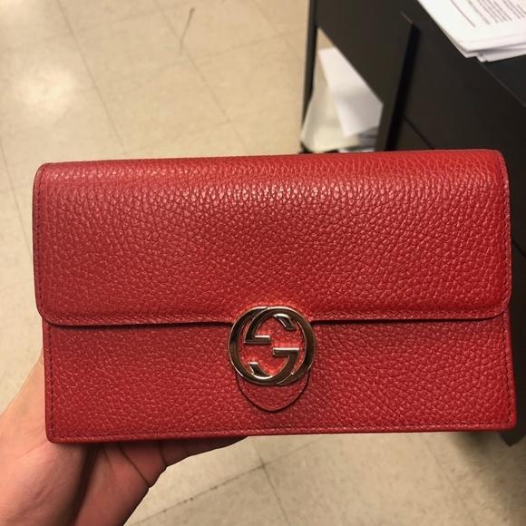 72282035d8a4 Gucci Bags | Wallet On Chain Interlocking Gg Woc Clutch | Poshmark
